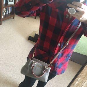 Small Dark Taupe and Orange Vera Bradley Handbag